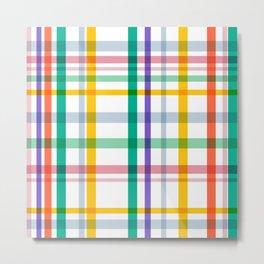 Plaid Checkered Patterns Metal Print