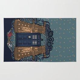 Art Nouveau Daleks and the TARDIS Rug