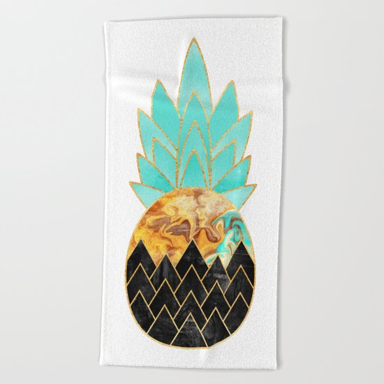 Precious Pineapple 3 Beach Towel