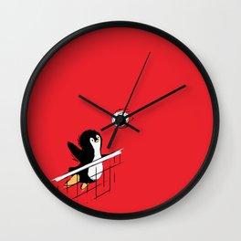 Flying Penguins Wall Clock