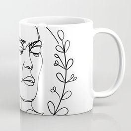 Frida Kahlo Line Art Drawing Coffee Mug