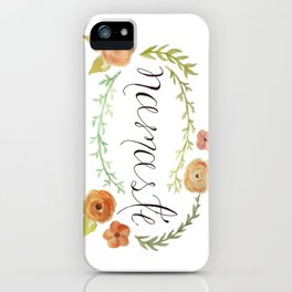 Namaste Floral Watercolor iPhone Case