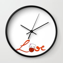 Love Cat Wall Clock
