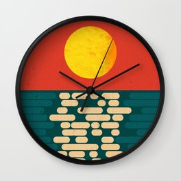 Sun Over The Sea - Afternoon Wall Clock