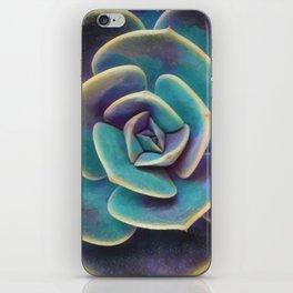 Purple & Blue Succulent iPhone Skin