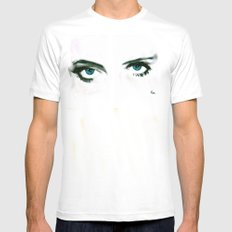 BETTY DAVIS EYES MEDIUM White Mens Fitted Tee