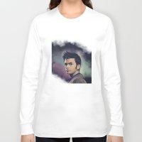 david tennant Long Sleeve T-shirts featuring David Tennant - Doctor Who by KanaHyde