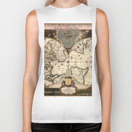 World Map 1695 Biker Tank