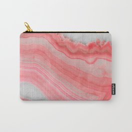 Coral Pink Agate  Carry-All Pouch