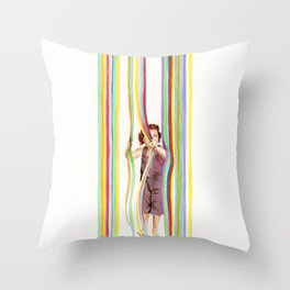 La cortina Throw Pillow