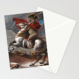 T. Rex Crossing the Alps Stationery Cards