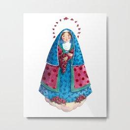 Saint Therese of The Child Jesus (Blue) / Santa Teresinha do Menino Jesus (azul) Metal Print