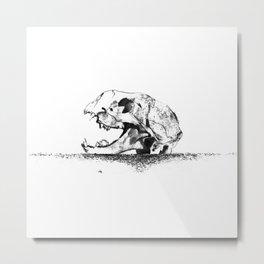 mittens - cat skull Metal Print