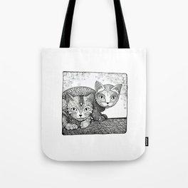 Sister love - kitten style Tote Bag