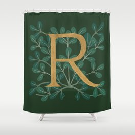 Forest Letter R 2018 Shower Curtain