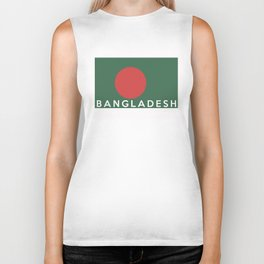 bangladesh country flag name text Biker Tank