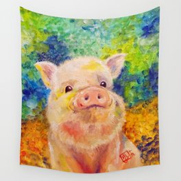 Zodiac - Year of the Piggie Wall Tapestry