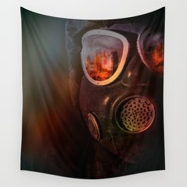 Fire in the eyes Wall Tapestry