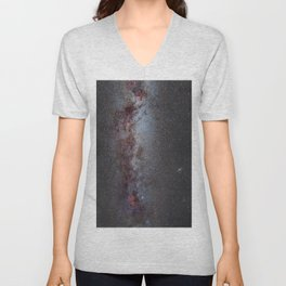 North America Nebula: the Milky way, from Cygnus to Perseus and Andromeda galaxy. Unisex V-Neck