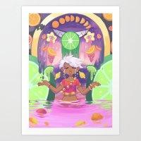 Fruit Juice Art Print