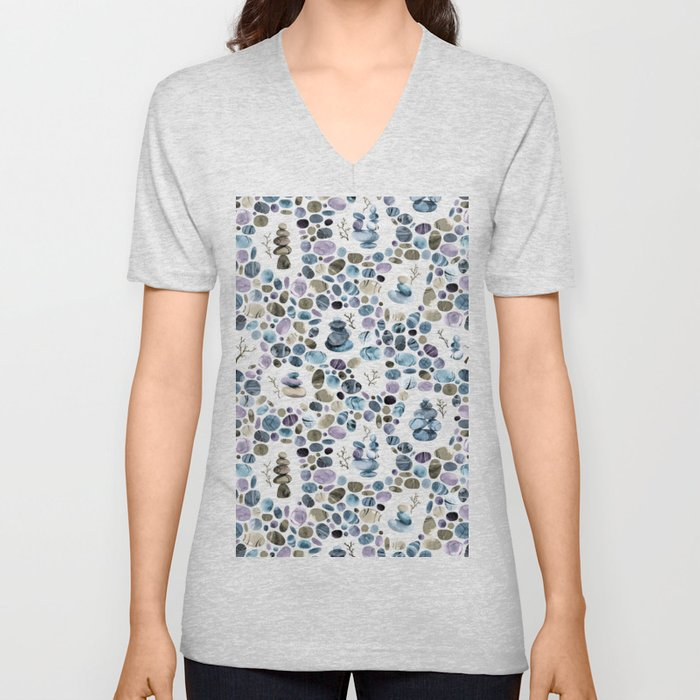Wishing stones and cairns Unisex V-Neck