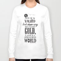 tolkien Long Sleeve T-shirts featuring Tolkien quote by Pau Ricart