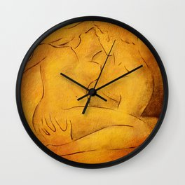 Flaming Passion - Love Couples Wall Clock