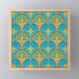 Art Deco Peacock Fans Framed Mini Art Print