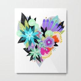 Love Blooms - Rainbow - text free Metal Print