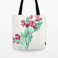 peru Tote Bags featuring Peru Lilies by Kate Havekost Fine Art