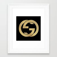 gucci Framed Art Prints featuring Gucci 2 by Beauti Asylum