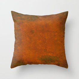 Weathered Copper Texture Throw Pillow
