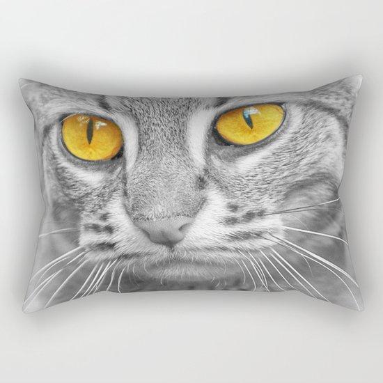 RUSTY SPOTTED CAT Rectangular Pillow