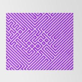 Optical Chaos 03 purple Throw Blanket