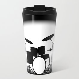 Half Tone Rock Band Poster Travel Mug
