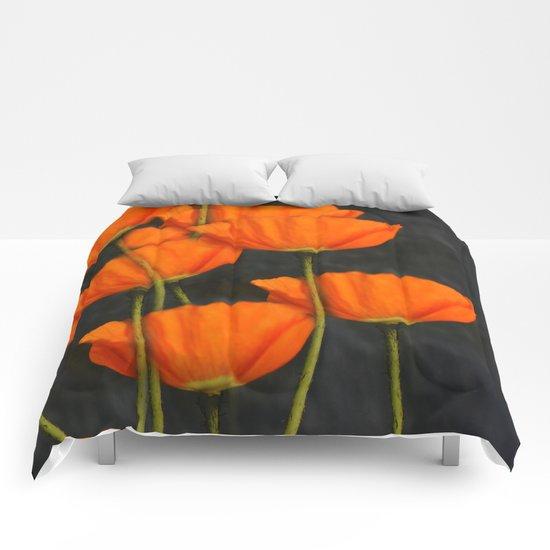 Poppies(orange). Comforters