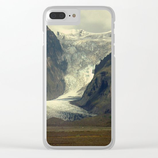 Iceland Glacier Clear iPhone Case