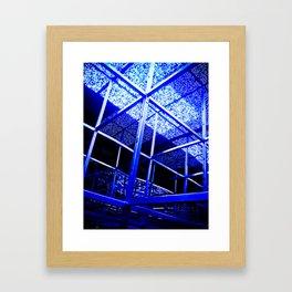 Blue Structure Framed Art Print