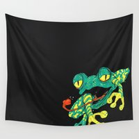 frog Wall Tapestries featuring Frog by Linus Nyström