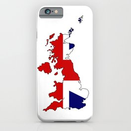 United Kingdom Map and Flag iPhone Case