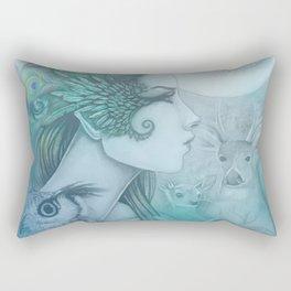 Spirit of Artemis 2 Goddess Art Rectangular Pillow