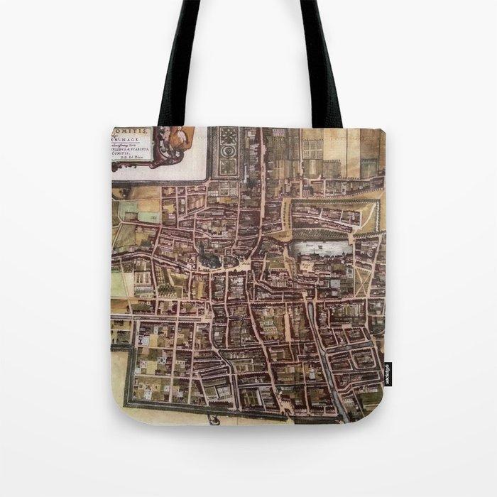 Replica city map of The Hague 1649 Tote Bag