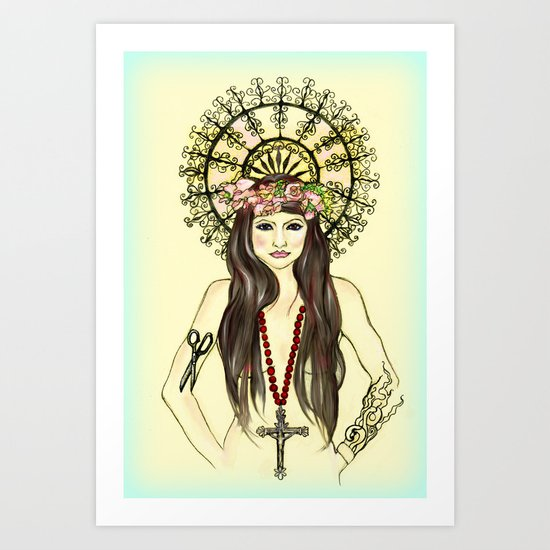 Warrior Rose Art Print