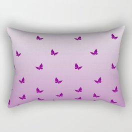 Purple Butterflies Rectangular Pillow