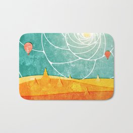 Bagan at sunrise Bath Mat
