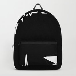 Hanggliding Heartbeat Line Funny Gift Backpack