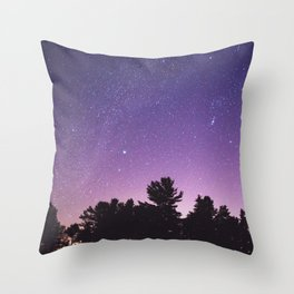 Where the Sky Meets the Trees Throw Pillow