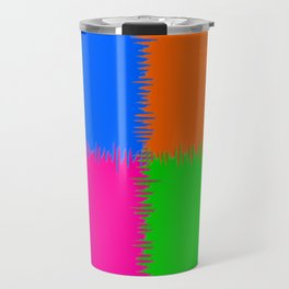 QUARTERS #1 (Orange, Fuchsia, Blue & Green) Travel Mug