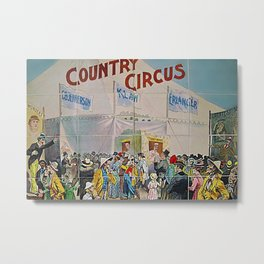 1892 Jefferson, Klaw, and Erlanger – Circus Salesmen Sample Circus Poster Metal Print