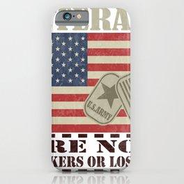 Veterans Military Anti Trump Biden 2020 USA Election Gift iPhone Case